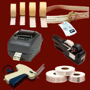 Textil. Etiquetas textiles, etiquetadoras e impresoras
