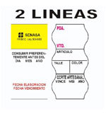 Etiquetas Preimpresas 2 líneas