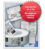 Servicio de Impresión de códigos de barras en el día