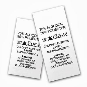 Etiquetas de Poliamida en Blanco o Impresas