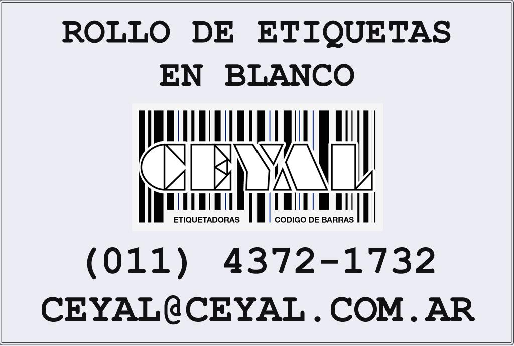 CÓDIGOS DE BARRAS YA IMPRESOS ETIQUETAS 38mmX53mm