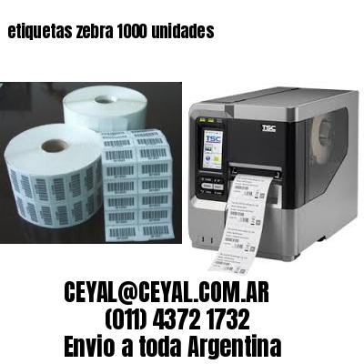 etiquetas zebra 1000 unidades