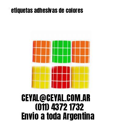 Etiquetas en rollo Color argentina