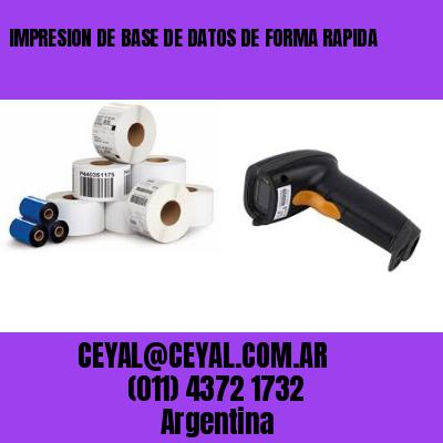 como imprimir contenido base de datos argentina
