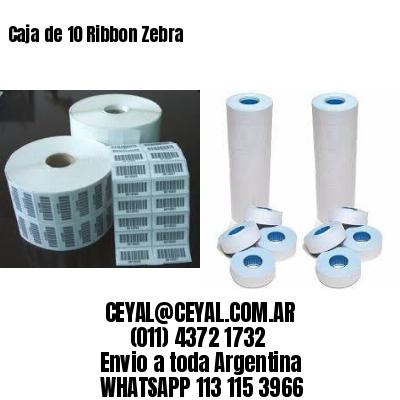 Caja de 10 Ribbon Zebra