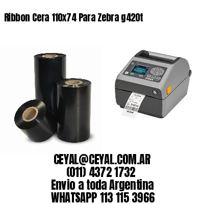 Ribbon Cera 110x74 Para Zebra g420t