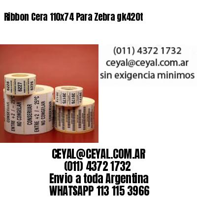Ribbon Cera 110x74 Para Zebra gk420t