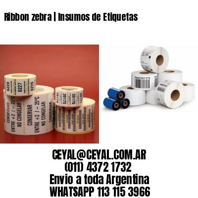 Ribbon zebra | Insumos de Etiquetas