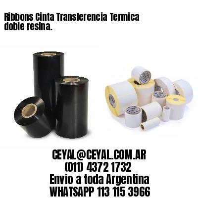 Ribbons Cinta Transferencia Termica doble resina.