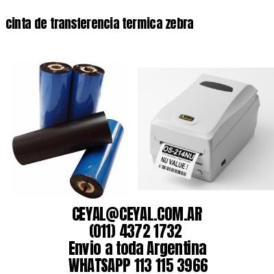 cinta de transferencia termica zebra