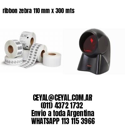 ribbon zebra 110 mm x 300 mts