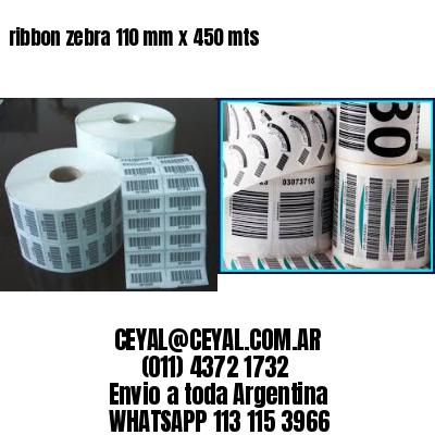 ribbon zebra 110 mm x 450 mts