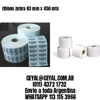 ribbon zebra 83 mm x 450 mts