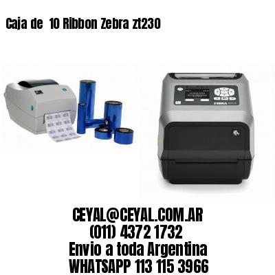Caja de  10 Ribbon Zebra zt230