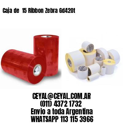 Caja de  15 Ribbon Zebra Gd420t