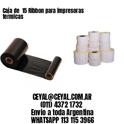 Caja de  15 Ribbon para impresoras termicas