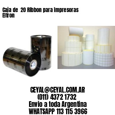 Caja de  20 Ribbon para impresoras Eltron