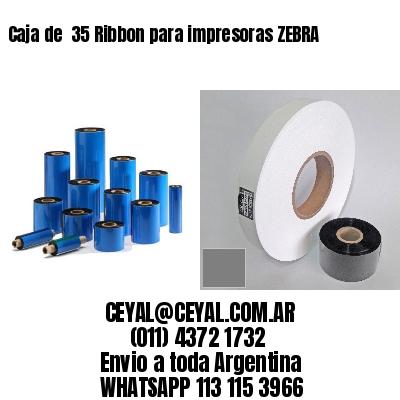 Caja de  35 Ribbon para impresoras ZEBRA