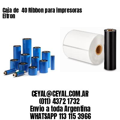 Caja de  40 Ribbon para impresoras Eltron