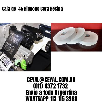 Caja de  45 Ribbons Cera Resina