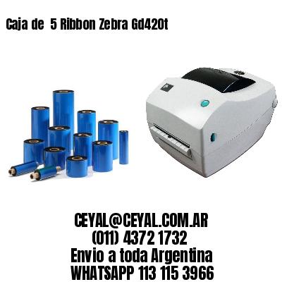 Caja de  5 Ribbon Zebra Gd420t