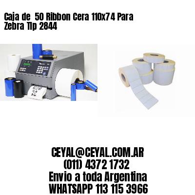 Caja de  50 Ribbon Cera 110x74 Para Zebra Tlp 2844
