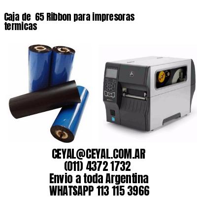 Caja de  65 Ribbon para impresoras termicas