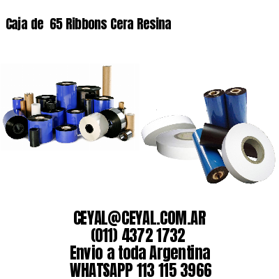 Caja de  65 Ribbons Cera Resina