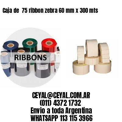 Caja de  75 ribbon zebra 60 mm x 300 mts