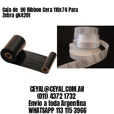 Caja de  90 Ribbon Cera 110x74 Para Zebra gk420t