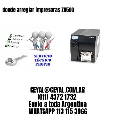 donde arreglar impresoras ZD500