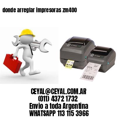 donde arreglar impresoras zm400