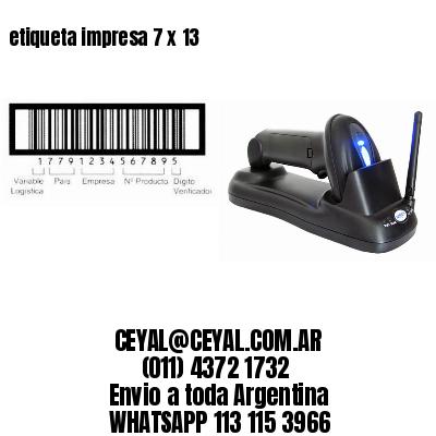 etiqueta impresa 7 x 13