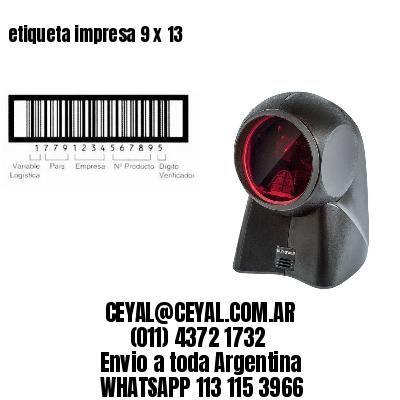etiqueta impresa 9 x 13