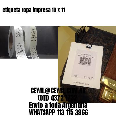 etiqueta ropa impresa 10 x 11