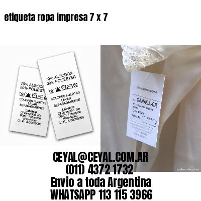 etiqueta ropa impresa 7 x 7