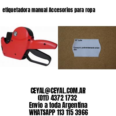 etiquetadora manual Accesorios para ropa