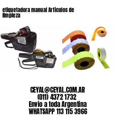 etiquetadora manual Artículos de limpieza
