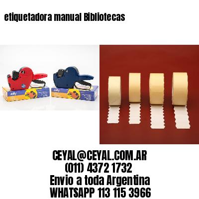 etiquetadora manual Bibliotecas