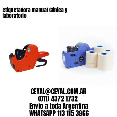 etiquetadora manual Clinica y laboratorio