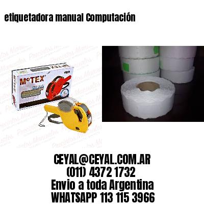 etiquetadora manual Computación