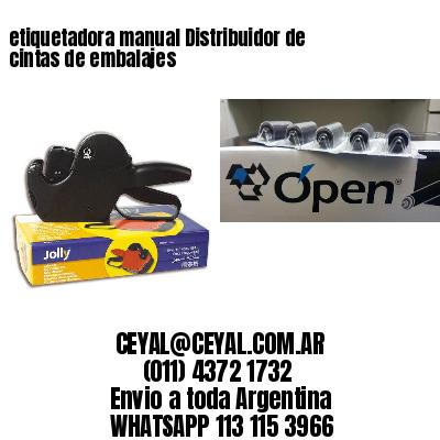 etiquetadora manual Distribuidor de cintas de embalajes