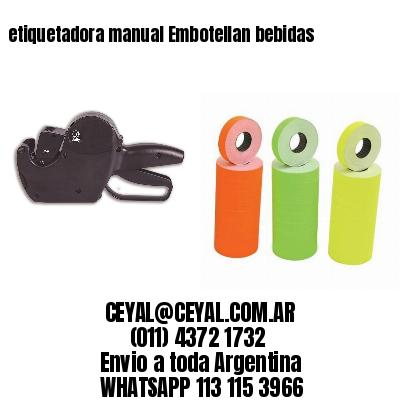 etiquetadora manual Embotellan bebidas