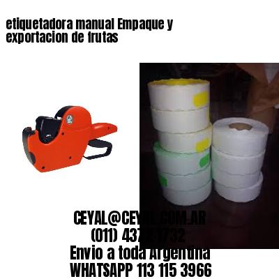 etiquetadora manual Empaque y exportacion de frutas