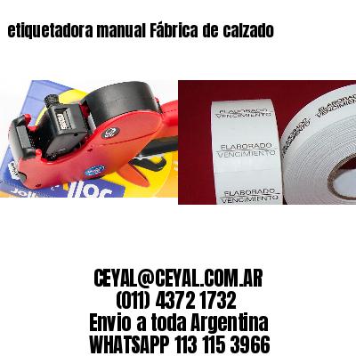 etiquetadora manual Fábrica de calzado