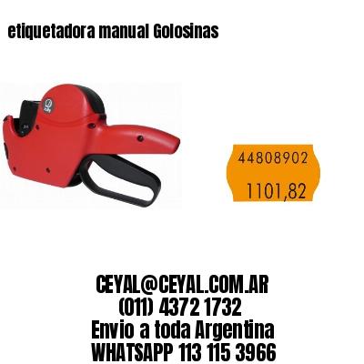 etiquetadora manual Golosinas