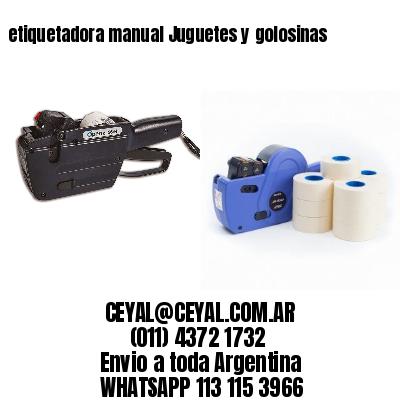 etiquetadora manual Juguetes y golosinas