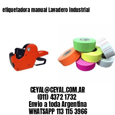 etiquetadora manual Lavadero industrial
