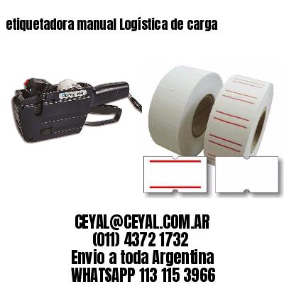 etiquetadora manual Logística de carga
