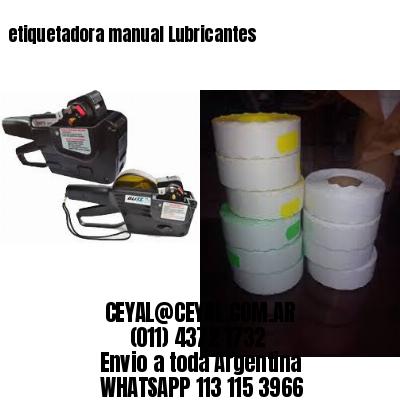 etiquetadora manual Lubricantes